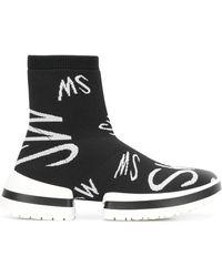 Stuart Weitzman Zapatillas estilo calcetín - Negro