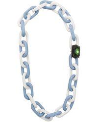 Marni Collar de cadena con detalles - Azul