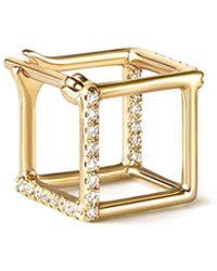 Shihara Diamond Square Earring 7 (02) - Metallic