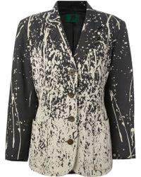 Jean Paul Gaultier 'pollock' Bleached Jacket - Black
