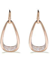 Pomellato Boucles d'oreilles Sabbia en or rose 18ct ornées de diamants