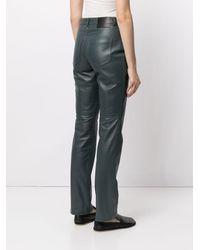 PROENZA SCHOULER WHITE LABEL Pantalon droit en cuir - Vert