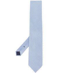 Tom Ford Gestreifte Jacquard-Krawatte - Blau