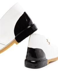 Clarks Ботинки Wallabee В Двух Тонах - Белый