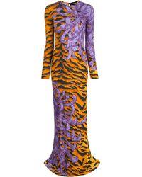 DSquared² Open Back Evening Dress - Multicolor