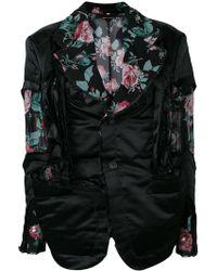 Comme des Garçons - Floral Panelled Blazer - Lyst