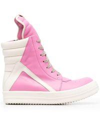Rick Owens Geobasket Sneakers - Pink