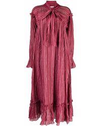 MASSCOB Striped Midi Dress - Pink
