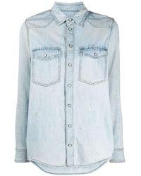 Givenchy ロゴ デニムシャツ - ブルー