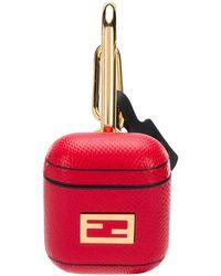 Fendi Ff Baguette Airpods Holder - Red