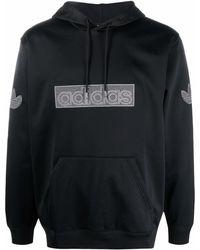 adidas Sprt ロゴパッチ パーカー - ブラック