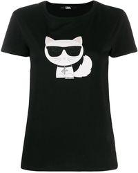 Karl Lagerfeld - Ikonik Choupette Tシャツ - Lyst