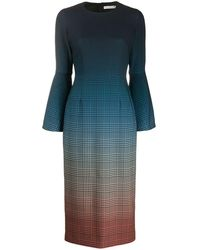 Mary Katrantzou チェック ドレス - ブルー