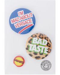Versace Mixed Print Logo Pins - Blue