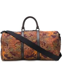 Etro Pegaso Camouflage Matelassé Holdall - Brown