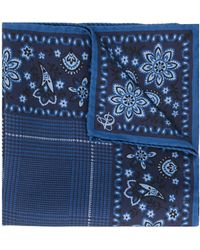 Canali - Paisley Print Pocket Square - Lyst