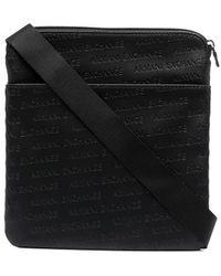 Armani Exchange ロゴ ショルダーバッグ - ブラック