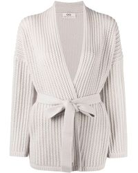 SMINFINITY Tied-waist Wrap Knitted Cardigan - Multicolour