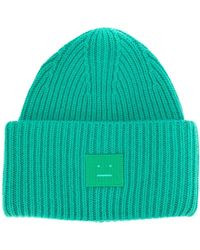 Acne Studios Pansy N Face Beanie - Green