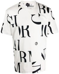 Giorgio Armani モノグラム Tシャツ - ホワイト
