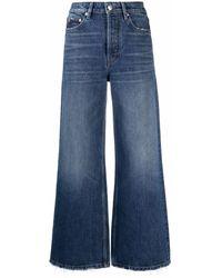 Maje Flared Leg Jeans - Blue