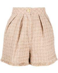 Elisabetta Franchi Tweed Shorts - Naturel