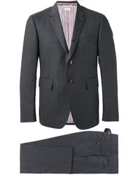 Thom Browne Classic Suit With Tie In Super 120's Twill - Grijs