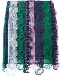 Versace Embroidered Patchwork Mini Skirt - Meerkleurig