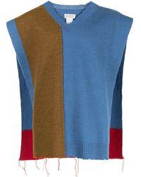 Maison Margiela カラーブロック セーター - ブラウン