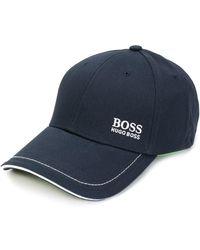 BOSS by Hugo Boss Baseballkappe mit Kontrastnähten - Blau