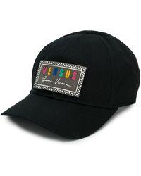 Versus Gorra con parche del logo - Negro