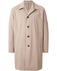 Harris Wharf London Lightweight Single Breasted Coat - Brown