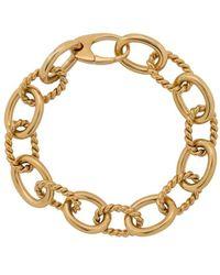 ISABEL LENNSE Twisted Chunky Chain Bracelet - Metallic