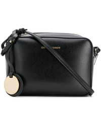Emporio Armani Textured Camera Bag - Black