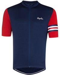 Rapha Great Britain サイクリング トップ - ブルー