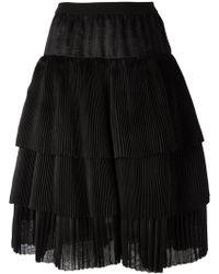 Sara Lanzi - A-line Tiered Skirt - Lyst