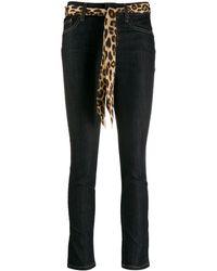 Liu Jo Schmale Jeans mit Gürtel - Blau