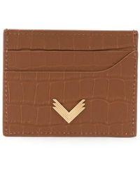 Manokhi カードケース - ブラウン