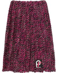 Prada - Pleated Knickerbocker Fabric Skirt - Lyst