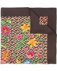 Gucci フローラ&gランバス スカーフ - マルチカラー