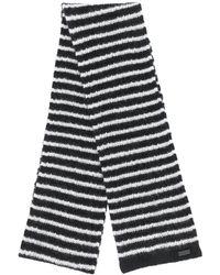 Saint Laurent Полосатый Шарф - Черный