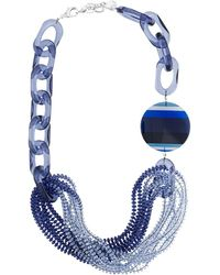 Emporio Armani Beaded Necklace - Blue