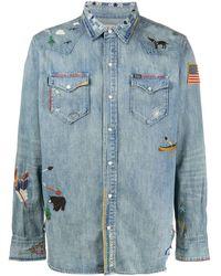 Polo Ralph Lauren Camisa vaquera bordada - Azul