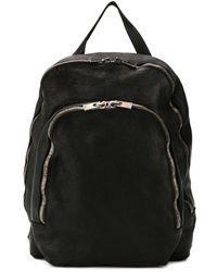 Guidi Leather Zipped Backpacks - Black