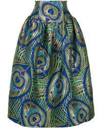 Manish Arora Psychedelic Heart Print Skirt - Green