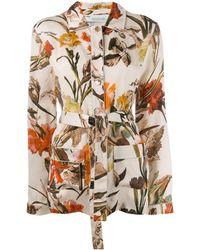 Off-White c/o Virgil Abloh Floral-print Pyjama Style Top - Multicolour