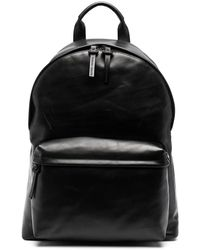 Officine Creative Classic Leather Backpack - Black