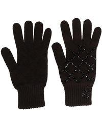 Blumarine スパンコール 手袋 - ブラック