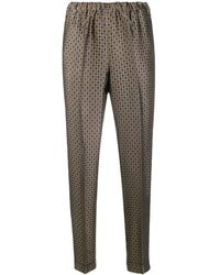 Alberto Biani Pantalon slim en jacquard - Multicolore