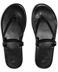 Ancient Greek Sandals Thong Strap Sandals - Black